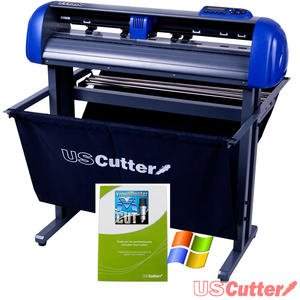 uscutter titan 28 inch vinyl cutter with stand and vinylmaster cut software